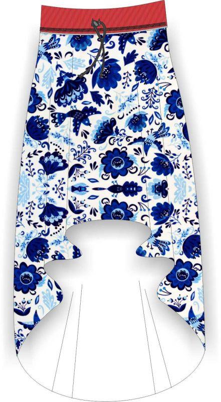 Papírový střih - DÁMSKÁ sukně s atypickou délkou Mavatex