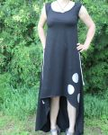 Papírový střih - DÁMSKÉ šaty s atypyckou délkou Mavatex