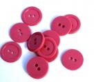 Knoflík plastový 2 cm tmavě růžový