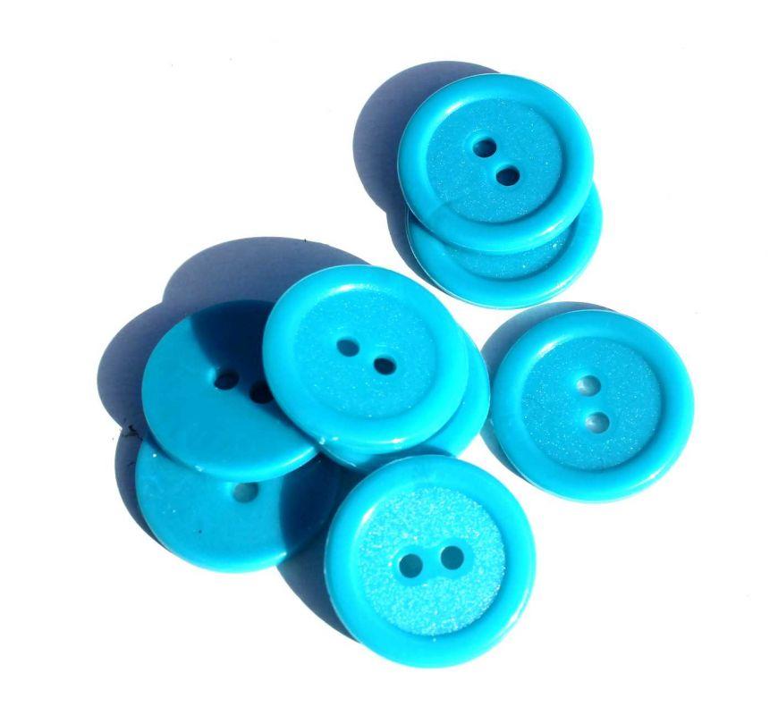 Knoflík plastový 2 cm světlě modrý Vyrobeno mimo EU