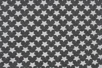 Rib 1x1 černá mellange s bílými hvězdami