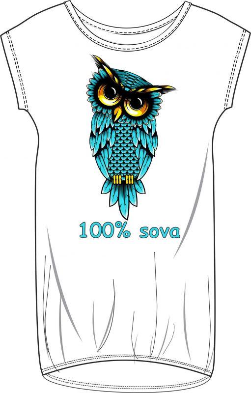 Panel triko/mikina/taška - 100% sova- text na přání vyrobeno v EU