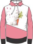 Panel triko/mikina/taška - zajíček s mrkví vyrobeno v EU