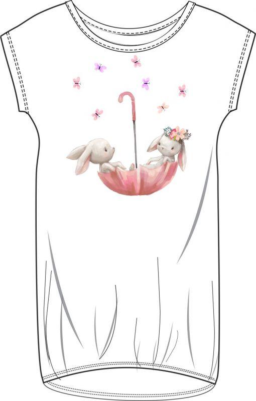 Panel triko/mikina/taška - zajíčkové v deštníku vyrobeno v EU