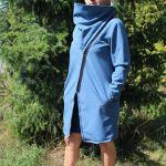 Papírový střih - DÁMSKÝ SOFT kabátek s atyp límcem POLINA- XS-2XL Mavatex