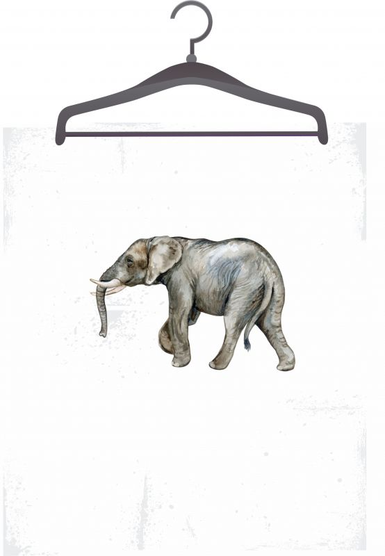Panel triko/mikina/taška -slon vyrobeno v EU