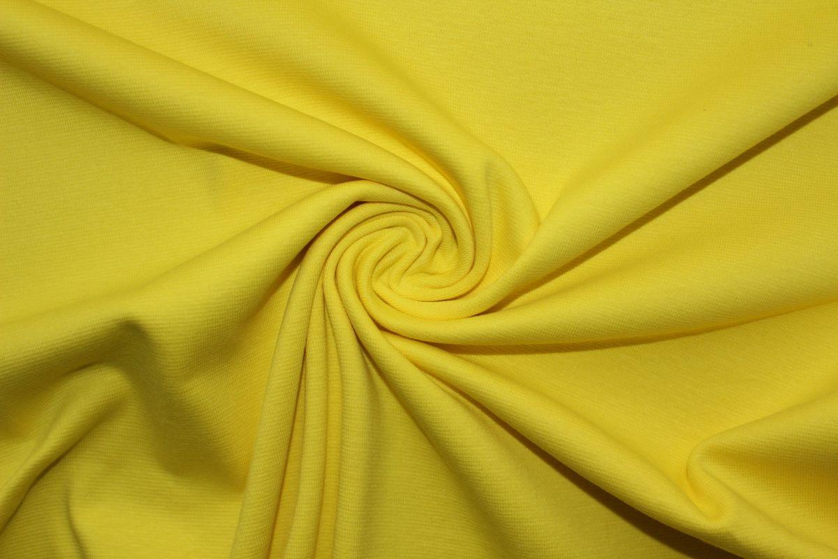 Rib 1x1 jasně žlutá s elastanem- pružný lem, náplet, pružný úplet EU-úplety atest pro děti