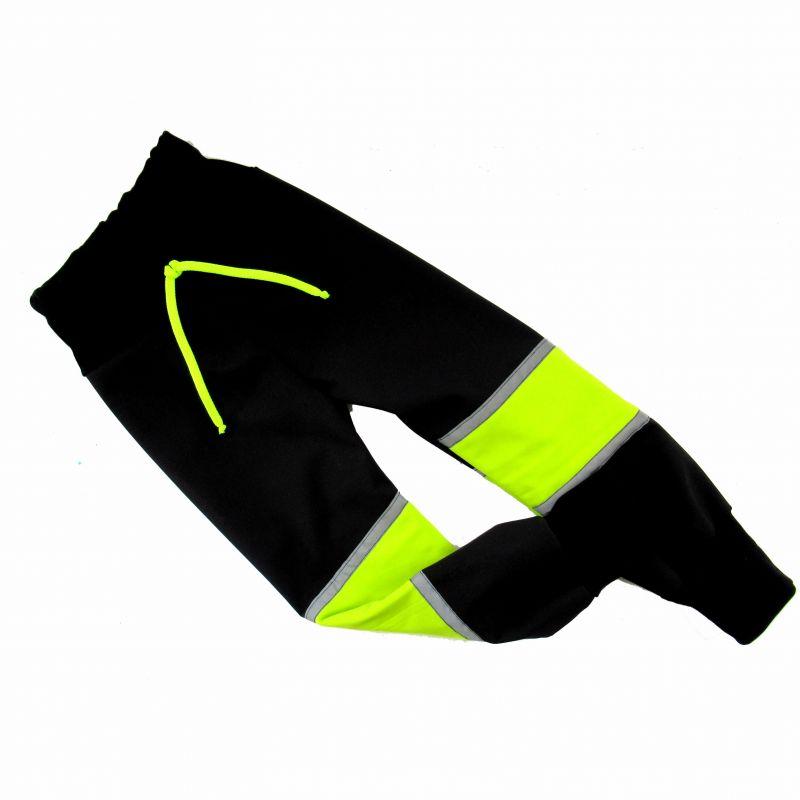 Elektronický střih -Softshelové kalhoty - slim fit malé s kolenní výztuhou Mavatex