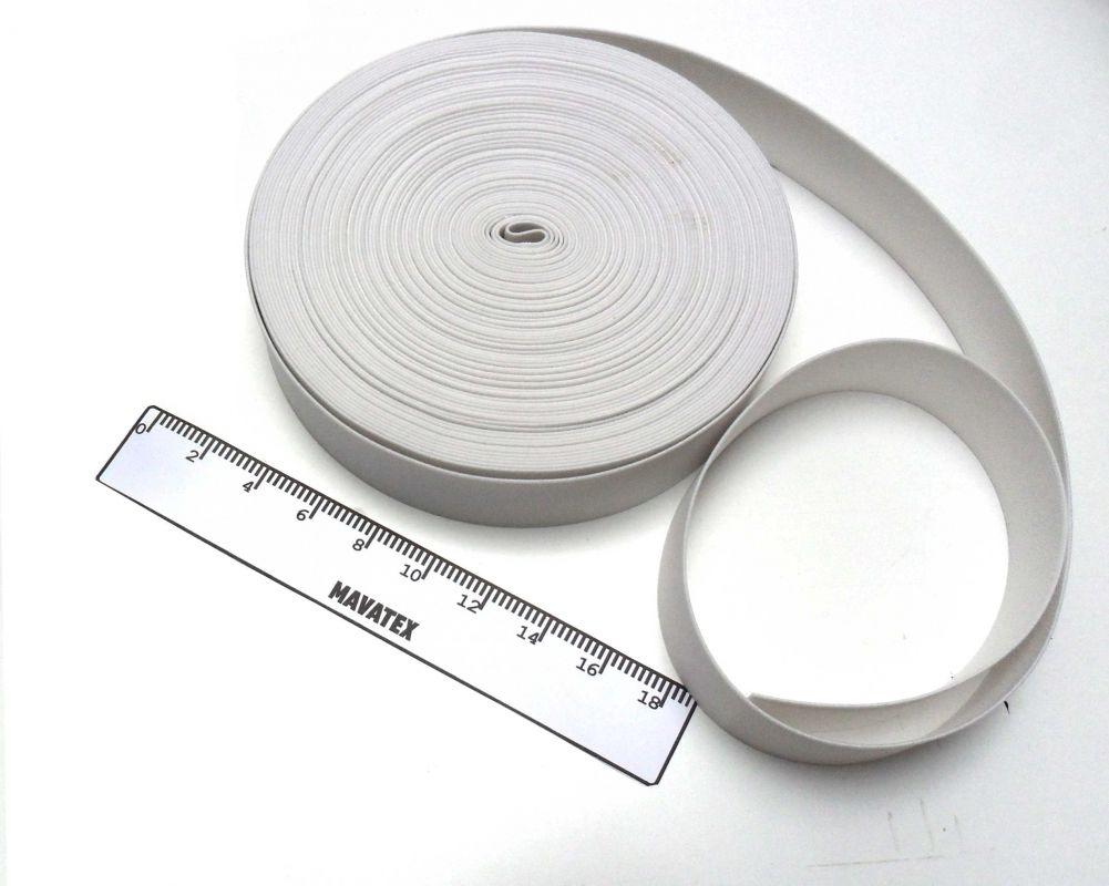 Pruženka prádlová bílá 50 mm vyrobeno v EU