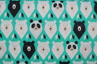 Bavlna bílý a hnědí medvědi