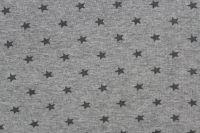 Rib 1x1 světlá mellange se světlými hvězdičkami