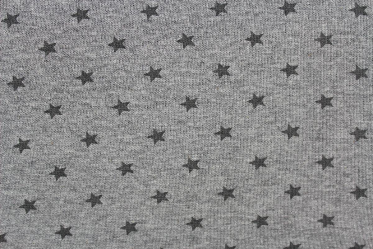 Rib 1x1 světlá mellange se světlými hvězdičkami EU-úplety atest pro děti