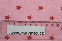 Metráž žebro hvězdičky, rib 1x1, pružný lem, náplet, pružný úplet EU-úplety atest pro děti