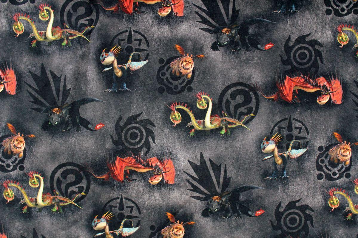 Teplákovina jak vycvičit draky na tmavé- digitální tisk EU-úplety atest pro děti