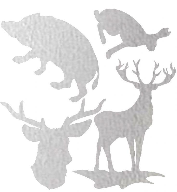 Nažehlovačka reflexka - lesní zvěř vyrobeno v EU