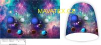 Panel na čepice -planety fialové