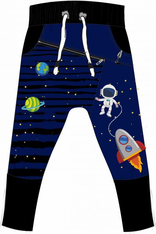 Panel na tepláčky - astronaut vyrobeno v EU