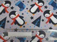 Teplákovina tučňáci – digitální tisk EU-úplety atest pro děti