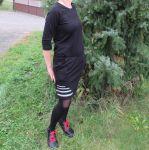 Papírový střih - Dámské šaty přestřižené -dvoudílné RAGLAN-IVANA