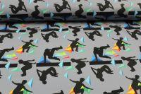 Softshell šedý parkour - zimní - digitální tisk vyrobeno v EU