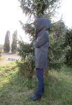 Elektronický střih - DÁMSKÝ Mikinový kabátek s vsazenou kapucí -MÍŠÁ