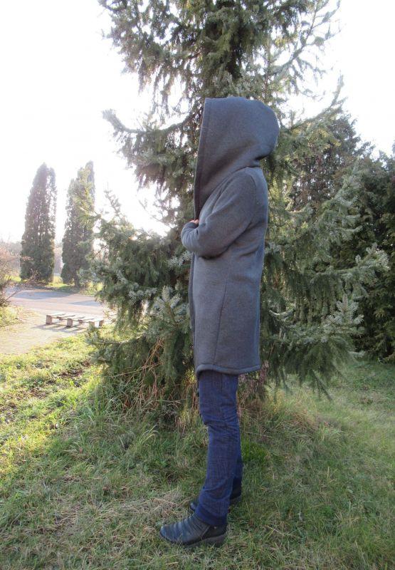 Elektronický střih - DÁMSKÝ Mikinový kabátek s vsazenou kapucí -MÍŠÁ Mavatex
