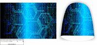 Panel na čepici velký - binární kod