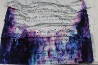 Panel na šaty – noty na fialové batice EU-úplety atest pro děti