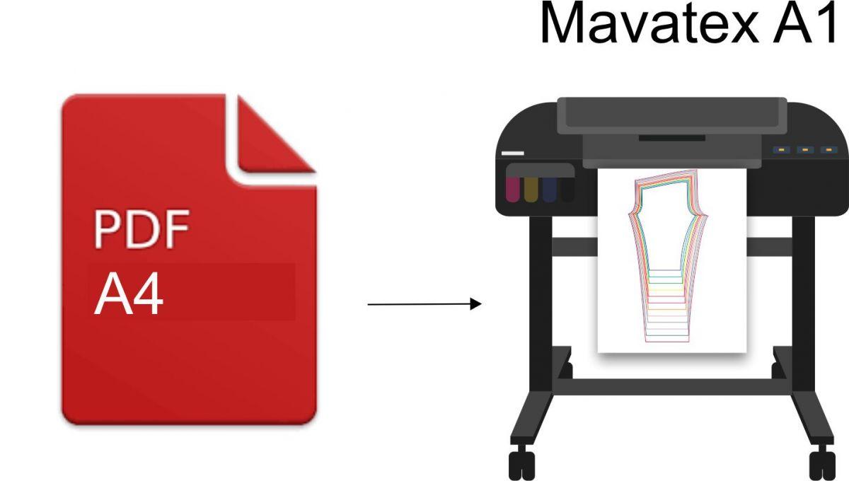 TISK VLASTNÍHO elektronického STŘIHU - formát A1 Mavatex