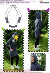 Elektronický střih -dámské mikinové šaty raglán- KAPUCA