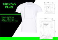 Panel triko/mikina/taška - pejsek s mašličkou a brýlemi vyrobeno v EU