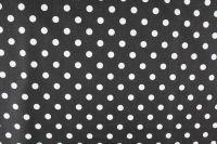 Černá bavlna se středními bílými puntíky -1,1 cm