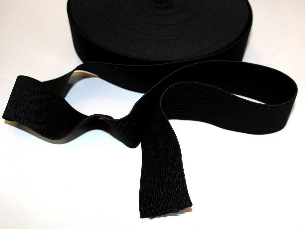Pruženka prádlová černá 25 mm- guma do kalhot, guma do teplákuů vyrobeno v EU