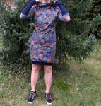 Papírový střih -dámské mikinové šaty raglán- KAPUCA Mavatex