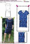 Papírový střih -DÁMSKÉ šaty přestřizené - dvoudílné s krátkým rukávem -ILONA