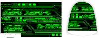 Panel na čepice- zelená metrx