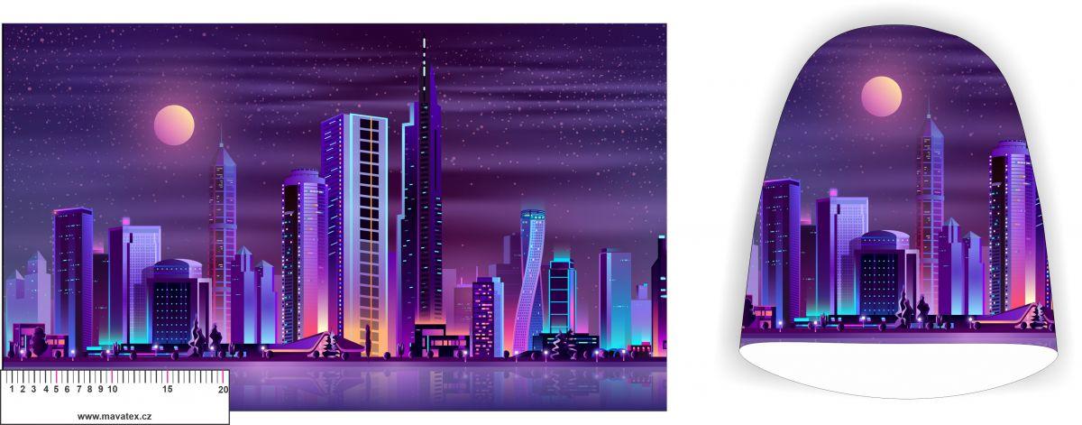 Panel na čepice velký - filaové město vyrobeno v EU
