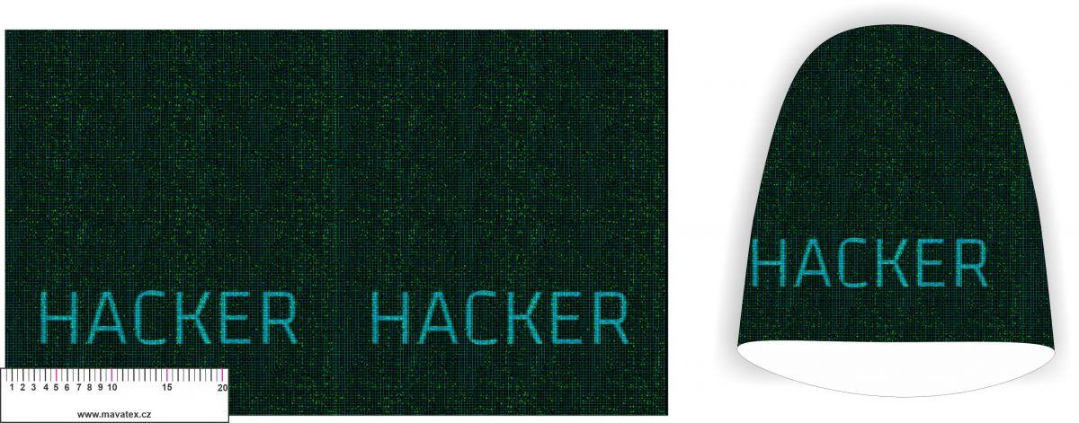 Panel na čepice velký - hacker vyrobeno v EU