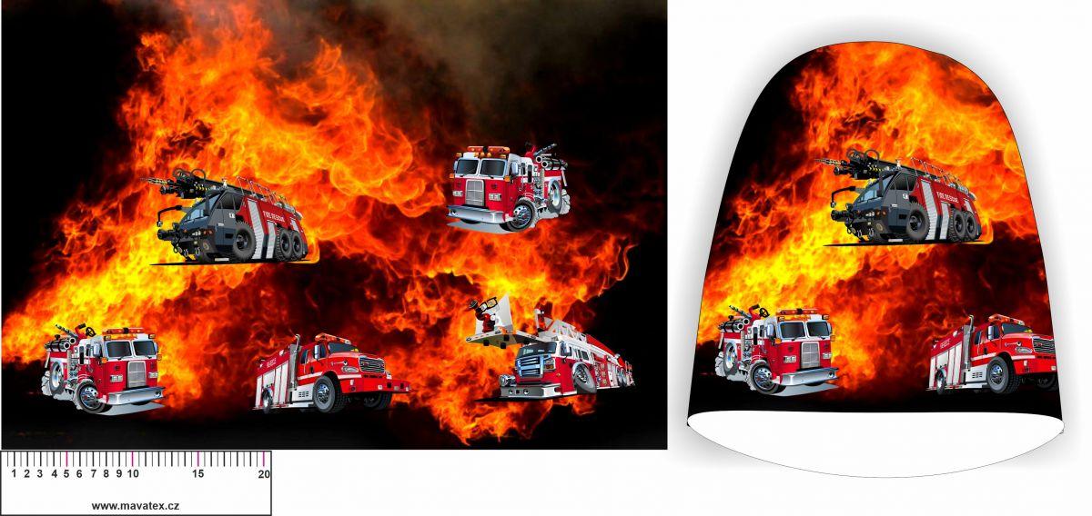 Panel na čepice - hasiči v ohni vyrobeno v EU
