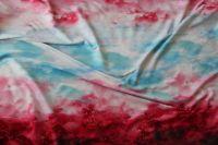 Panel na šaty – růžový přechodový s nebem velký-1,75x1,2 m EU-úplety atest pro děti