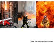 Panel na triko hasiči vyrobeno v EU