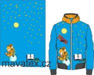Přední Softshell panel- přechodový ( zimní+letní) - malý princ světle modrá