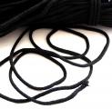 Oděvní tkanice černá bavlněná - kulatá 0,5 cm