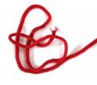 Kulatá červená oděvní tkanice