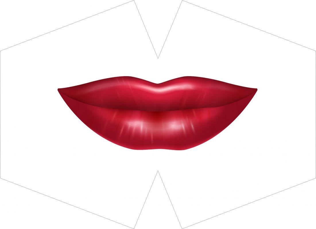 ROUŠKA PANEL- velká červená pusa vyrobeno v EU