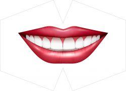 ROUŠKA PANEL- velká červená pusa se zuby