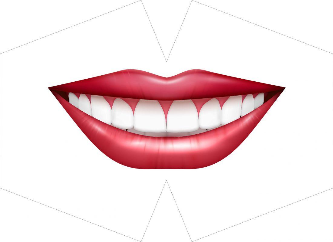 ROUŠKA PANEL- velká červená pusa se zuby vyrobeno v EU