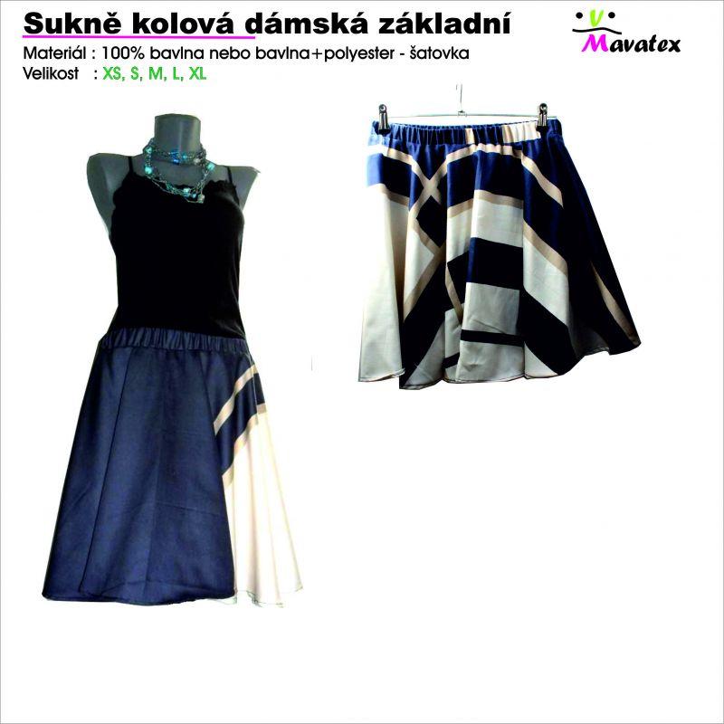 střih na sukni, šijeme sukni, sukně kolová, šití pro děti, učíme se šít Mavatex