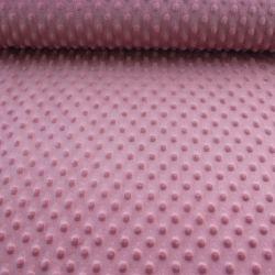 Minky tmavá starorůžová- 250 gsm - barva 014 EU-úplety atest pro děti