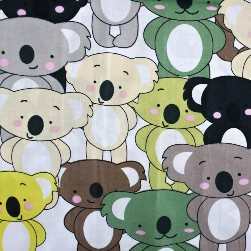 Bavlna koaly barevné vyrobeno v EU- atest pro děti bavlna